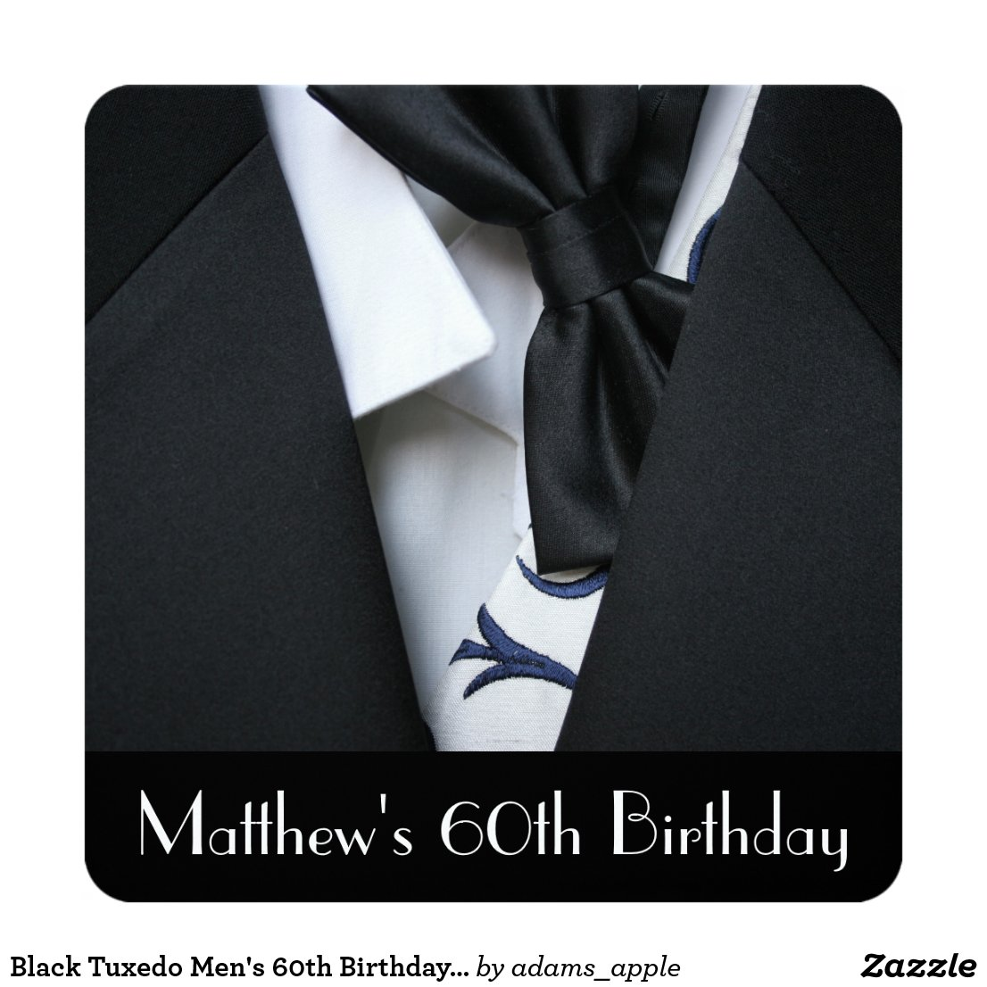 Men's 60th Birthday Party Invitation