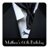 Men's 60th Birthday Party Invitation