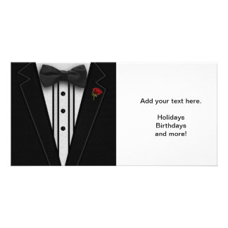 Black Tuxedo with Bow Tie Picture Card