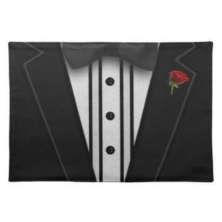 Black Tuxedo with Bow Tie Placemat
