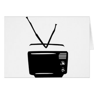 black tv television icon card