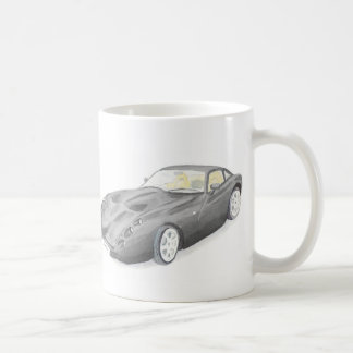 Black TVR Tuscan Classic car art mug