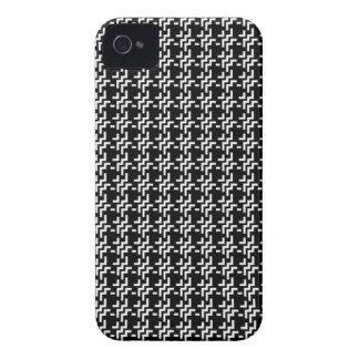 Black Tweed iPhone 4 Case-Mate Case