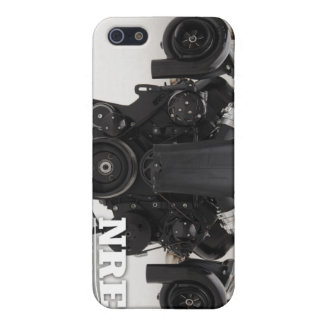 Black Twin Turbo Engine iPhone 5/5S Covers
