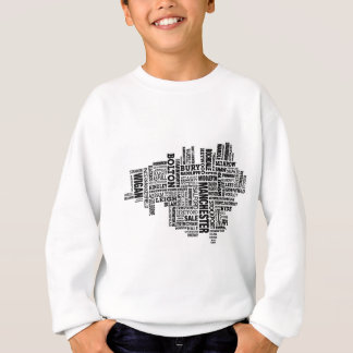 Black type map of Greater Manchester Sweatshirt