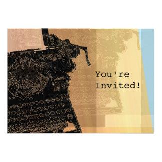 Black Typewriter 2 Invitation