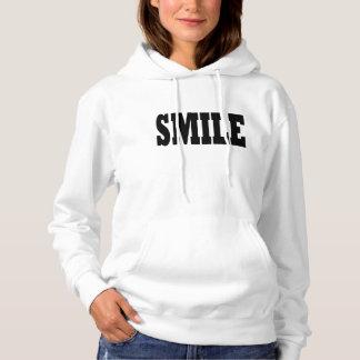 Black Typography SMILE Text Print On Shirts