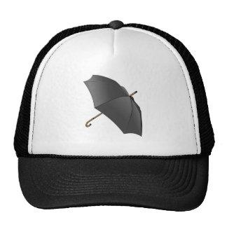 Black Umbrella Trucker Hats