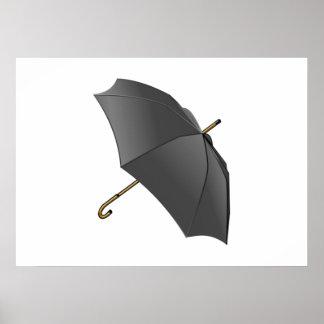 Black Umbrella Print