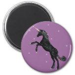 Black Unicorn 6 Cm Round Magnet