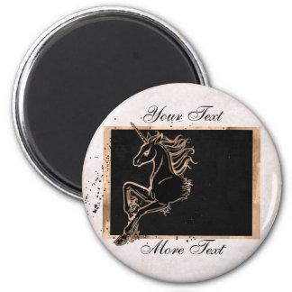 Black Unicorn Magnet