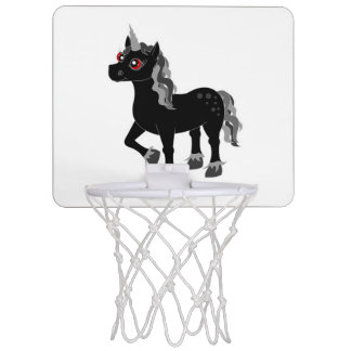 Black Unicorn Mini Basketball Hoop