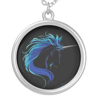 black unicorn necklace