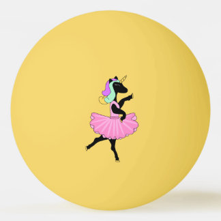 Black Unicorn Pink Ballerina Dress Ping Pong ball
