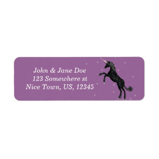 Black Unicorn Return Address Label