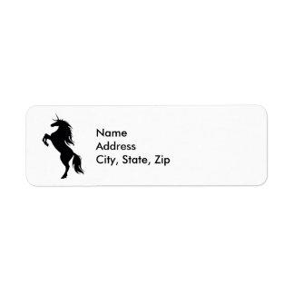 Black Unicorn Silhouette Address Labels