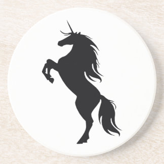 Black Unicorn Silhouette Coaster