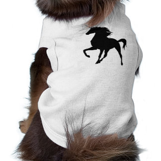 Black Unicorn Silhouette Dog Shirt