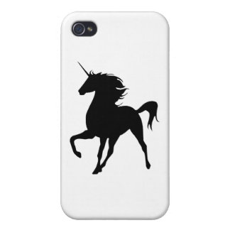 Black Unicorn Silhouette iPhone 4 Case
