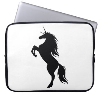 Black Unicorn Silhouette Laptop Sleeve