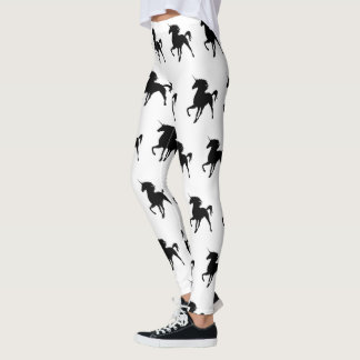 Black Unicorn Silhouette Legging