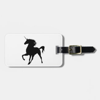 Black Unicorn Silhouette Luggage Tag
