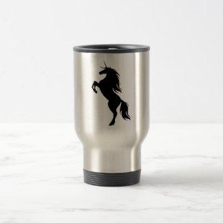 Black Unicorn Silhouette Travel Mug