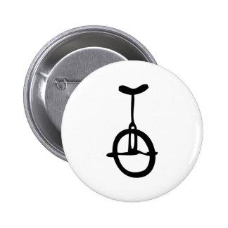 black unicycle icon 6 cm round badge