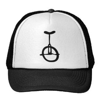 black unicycle icon mesh hat