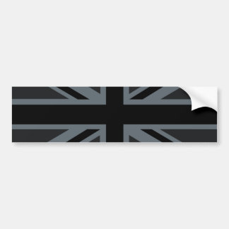 Black Union Jack British Flag Decor Bumper Sticker
