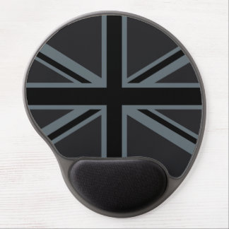 Black Union Jack British Flag Decor Gel Mouse Pad