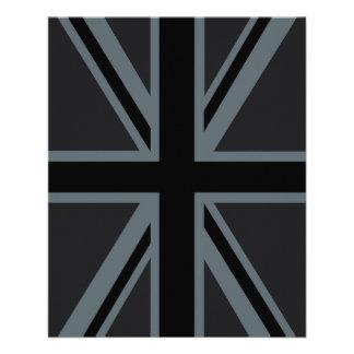 Black Union Jack British Flag Design Customize it 11.5 Cm X 14 Cm Flyer