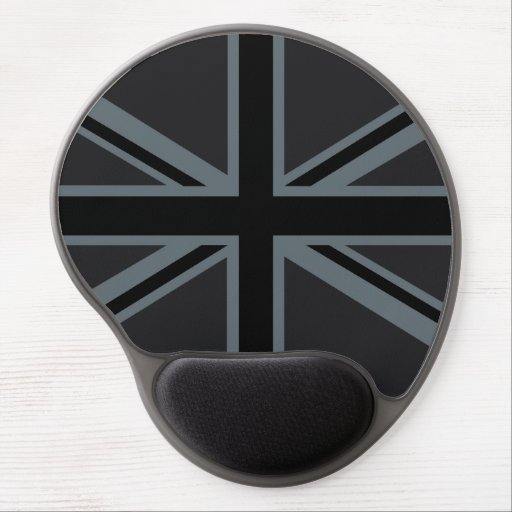 Black Union Jack British Flag Design Customize it Gel Mouse Mat