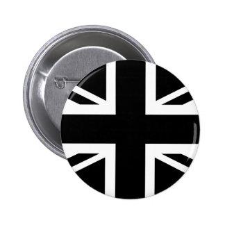 Black Union Jack British (UK) Country Flag 6 Cm Round Badge