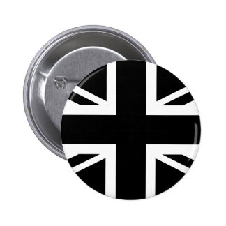 Black Union Jack British (UK) Country Flag Buttons