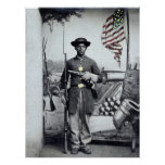 Black Union Soldier, 1860s Poster
