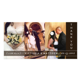 BLACK UNION | WEDDING THANK YOU CARD CUSTOMIZED PHOTO CARD