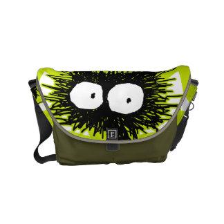 Black Unkempt Kitten GabiGabi Courier Bag