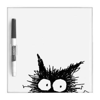 Black Unkempt Kitten GabiGabi Dry Erase Board