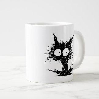 Black Unkempt Kitten GabiGabi Giant Coffee Mug