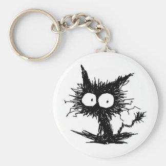 Black Unkempt Kitten GabiGabi Key Ring