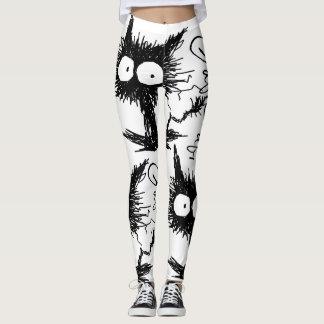 Black Unkempt Kitten GabiGabi Leggings