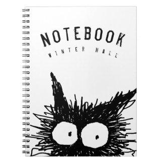 Black Unkempt Kitten GabiGabi Notebook