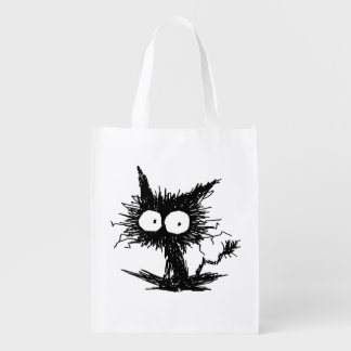 Black Unkempt Kitten GabiGabi Reusable Grocery Bag