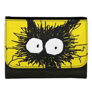 Black Unkempt Kitten GabiGabi Yellow Wallet