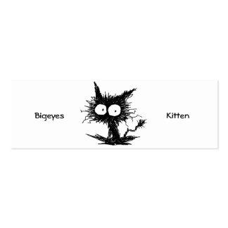 Black Unkempt Kitten Pack Of Skinny Business Cards
