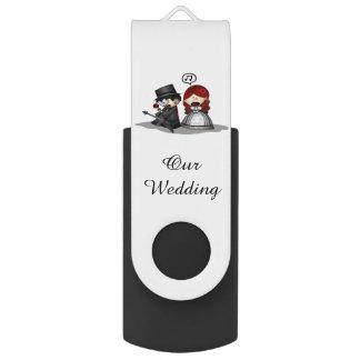 Black USB Flash Drive/Our Wedding USB Flash Drive