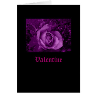 Black Valentine Card