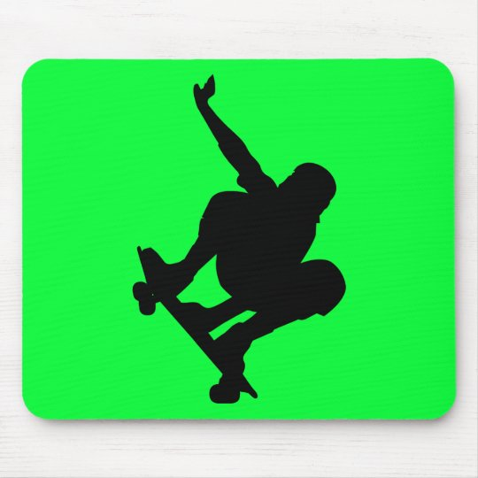 BLACK VECTOR SKATEBOARDER SPORTS FUN LOGO ICONS MOUSE