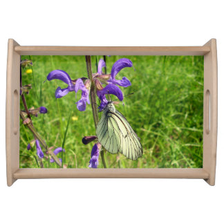 Black Veined White Butterfly Serving Tray